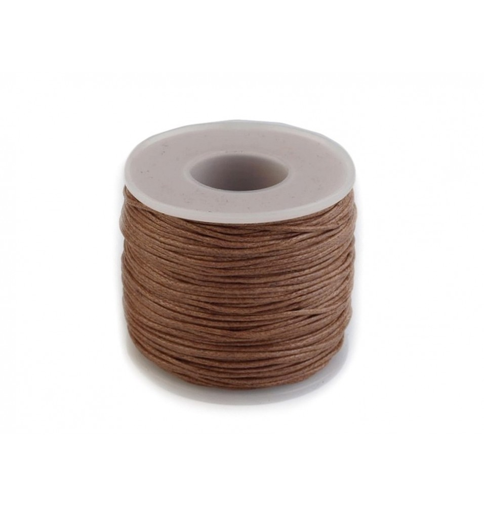Sfoara din bumbac, culoare maro, diametru 1mm, lungime 50m