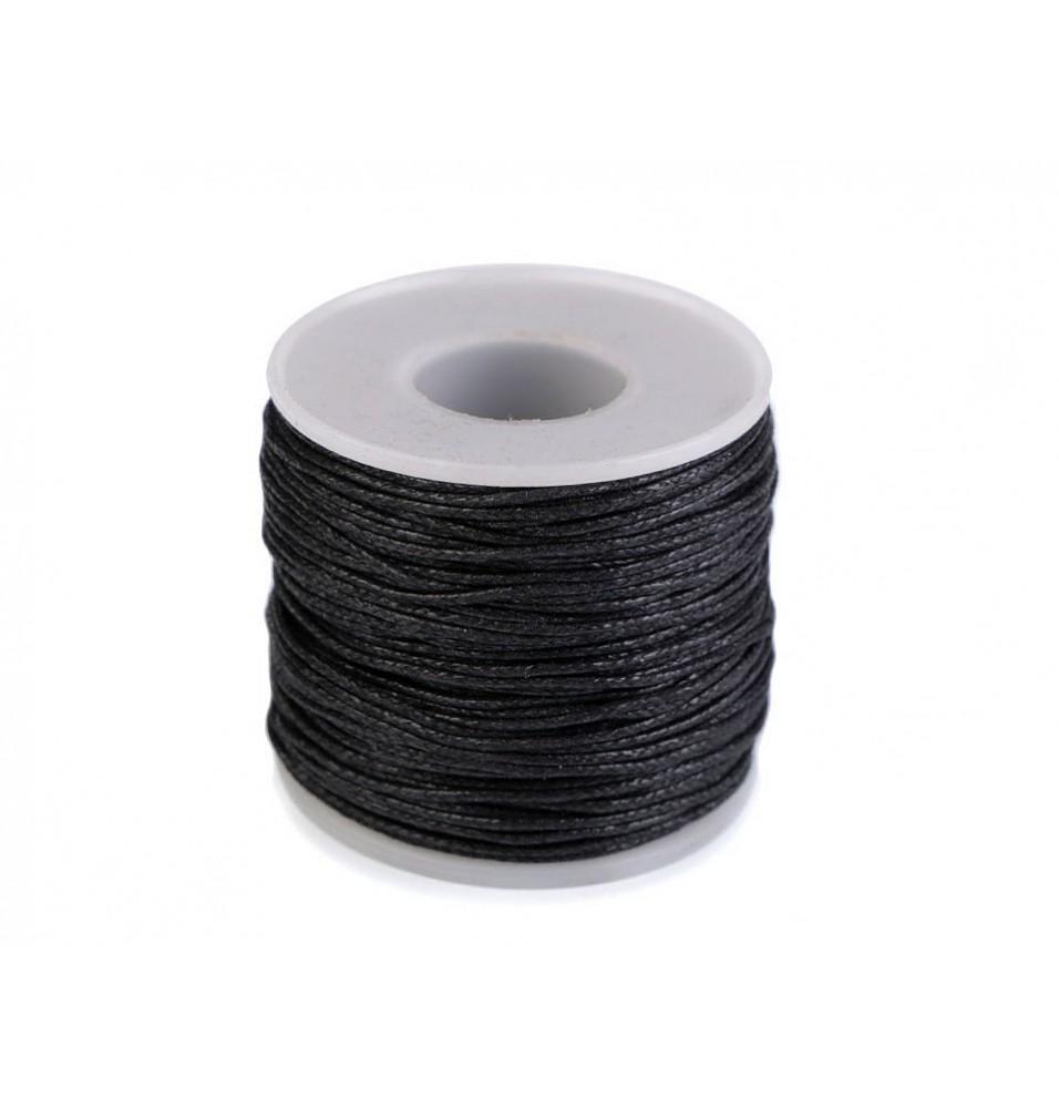 Sfoara din bumbac, culoare negru, diametru 1mm, lungime 50m
