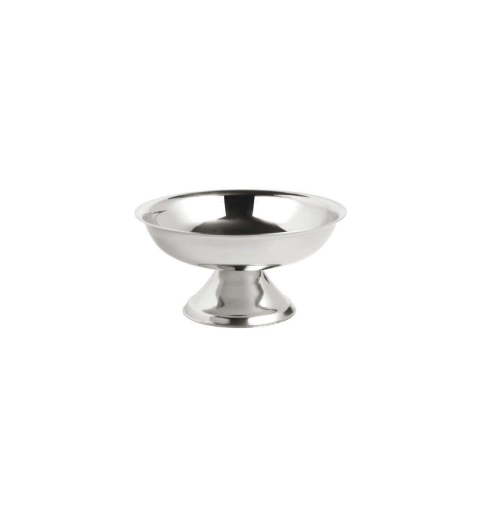 Cupa inghetata, cu picior, inox, diametru 95mm