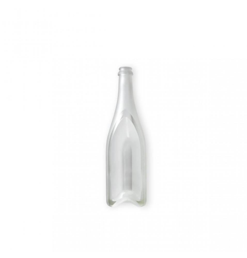 Platou, format dintr-o jumatate de sticla, structura din sticla transparenta, dimensiuni 80x300 mm