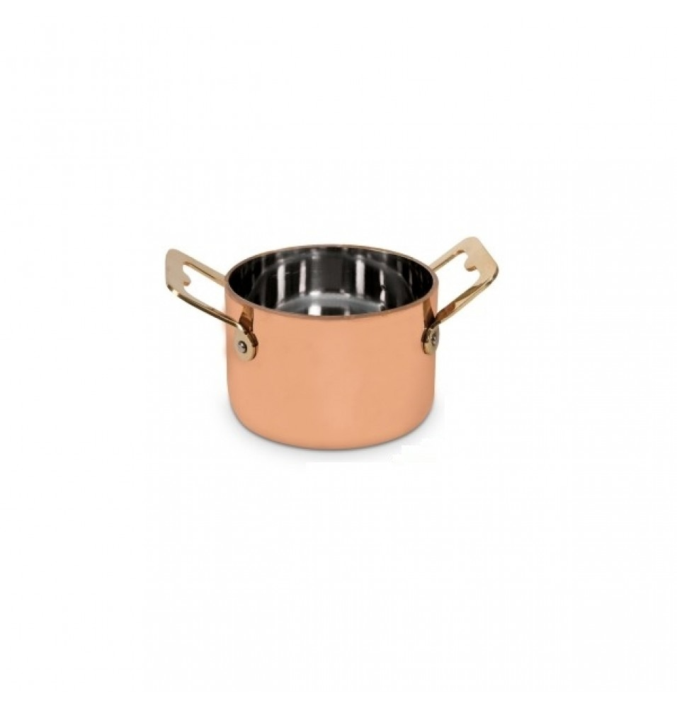 Minincaserola cupru pentru servire, diametru 90mm, H60mm