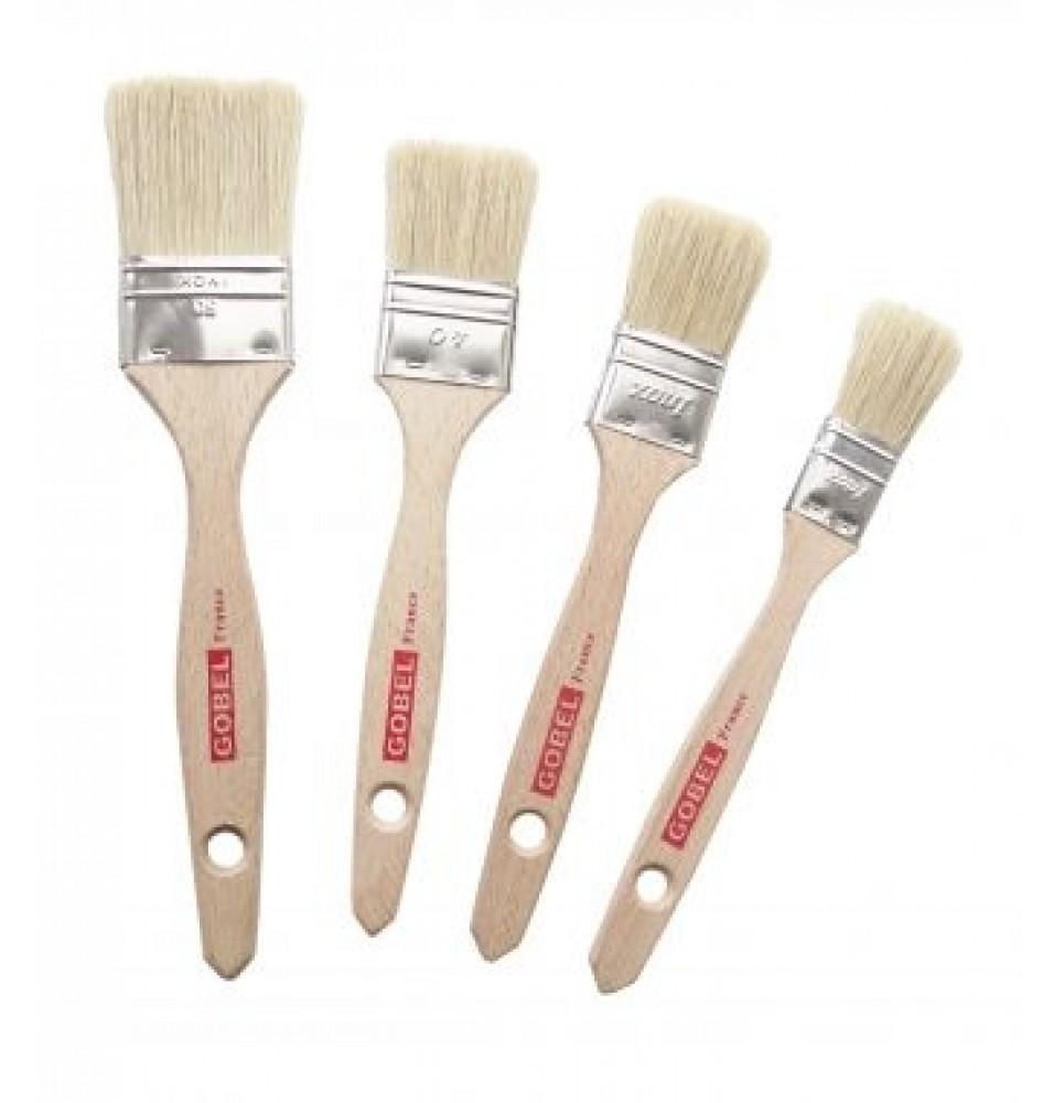 Pensula pentru produse patiserie, maner din lemn, fire naturale 40mm