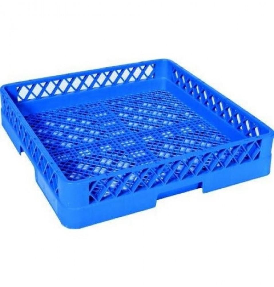 Cos pentru tacamuri, culoare albastru, dimensiuni 500x500x100mm
