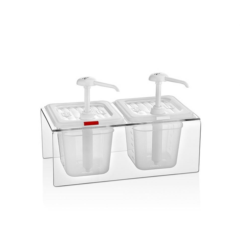 Dispenser dublu pentru sos, policarbonat