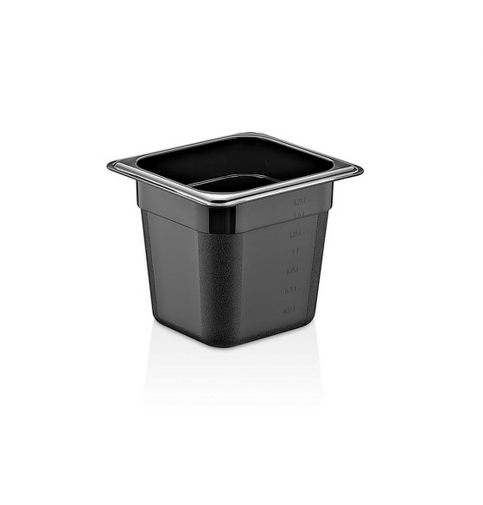 Cuva GN1/6, policarbonat, culoare neagra
