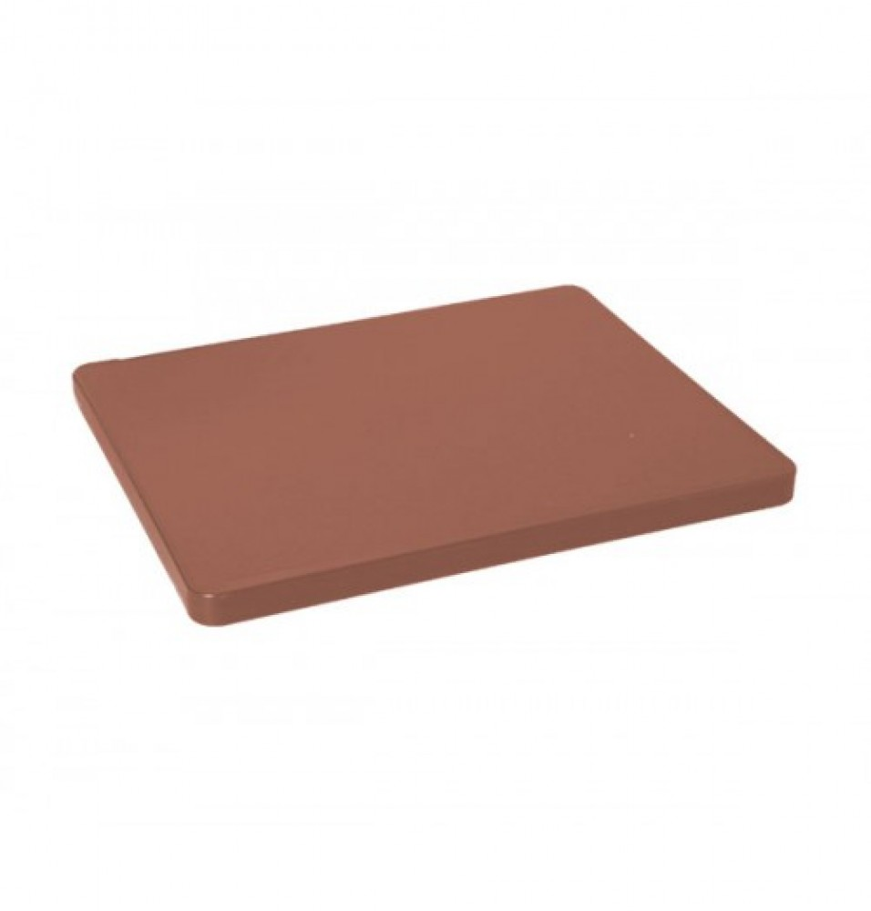 Tocator bucatarie profesional din polietilena, culoare maro, dimensiuni 450x300x15mm