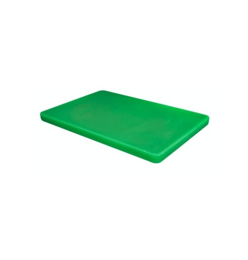Tocator bucatarie profesional din polietilena, culoare verde, dimensiuni 450x300x15mm