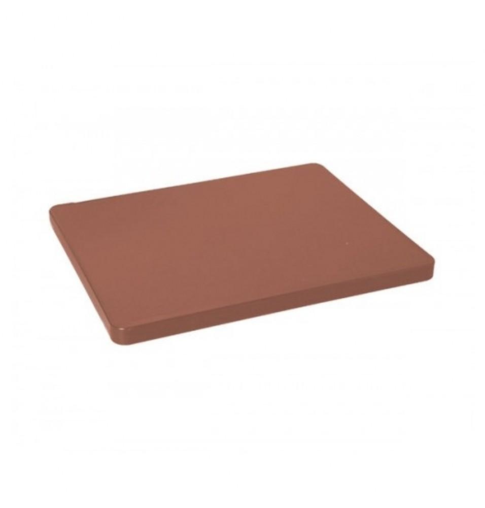 Tocator bucatarie profesional din polietilena, culoare maro, dimensiuni 530x325x15mm