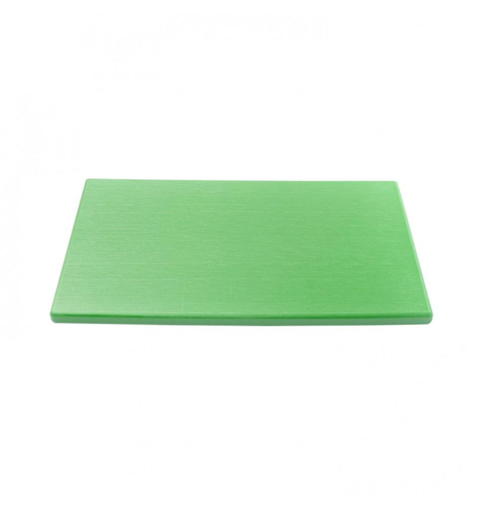 Tocator bucatarie profesional din polietilena culoare verde, dimensiuni 530x325x12mm