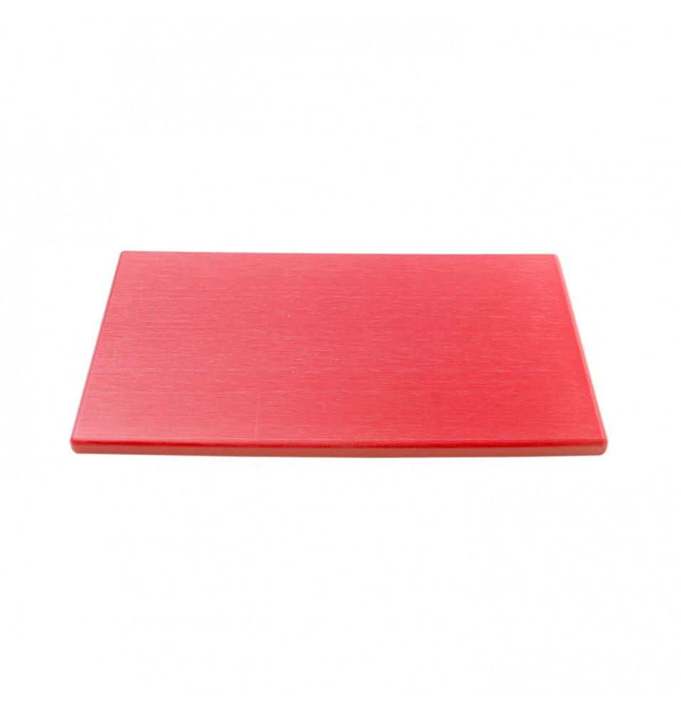 Tocator bucatarie profesional din polietilena, culoare rosie, dimensiuni 530x325x15mm