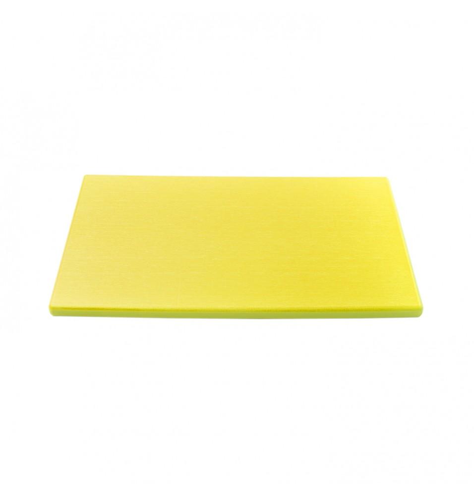 Tocator bucatarie profesional din polietilena, culoare galbena, dimensiuni 300x500x20hmm