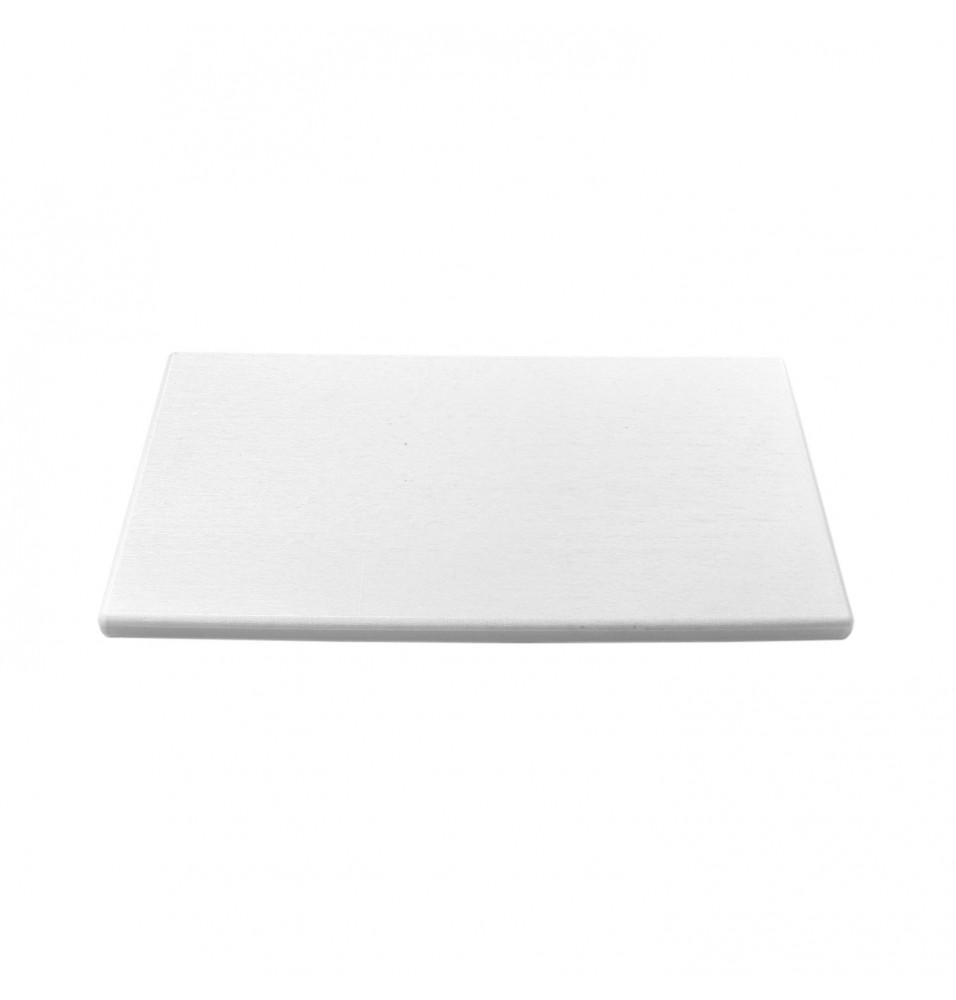 Tocator bucatarie profesional din polietilena, culoare alba, dimensiuni 530x325x15mm
