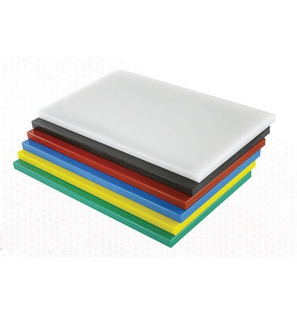 Tocator bucatarie profesional din polietilena, culoare galbena, dimensiuni 530x325x15mm