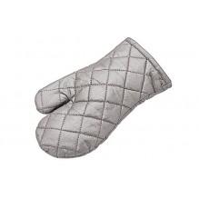 Manusa cuptor, culoare gri, poliester si bumbac, dimensiuni 27.5 cm