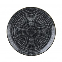 Farfurie rotunda, portelan, culoare Charcoal Black, diametru 288mm