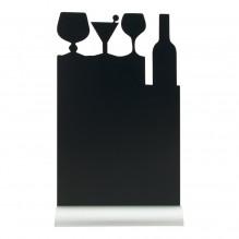 Tabla neagra, forma masa cocktail, dimensiuni 210x60x345hmm