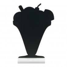 Tabla neagra, forma cupa inghetata, dimensiuni 230x60x335hmm